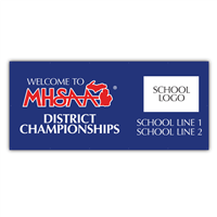 Banner - Welcome to MHSAA Districts - Co Branded 4' x 9'