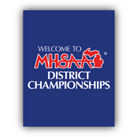 Styrene Sign - Welcome District Champs (Set of 2)