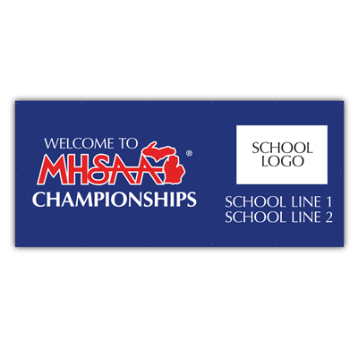Fence Jersey - MHSAA Champ - Co Branded 4' x 9'