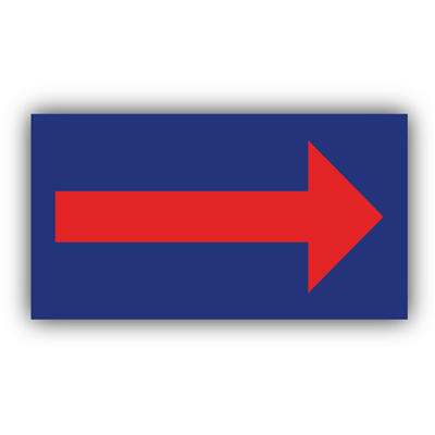 Coroplast Sign - Directional Arrow (for Deluxe A Frame) 22