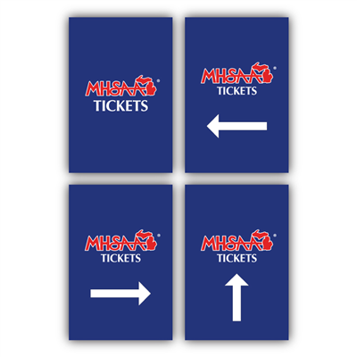 Styrene Sign - Tickets (Set of 4)