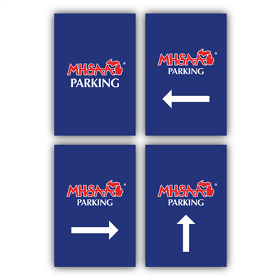 Styrene Sign - Parking (Set of 4)