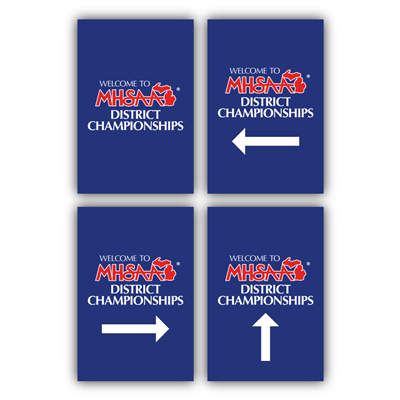 Styrene Sign - Welcome District Champs (Set of 4)